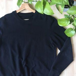 ZARA BERSHKA Crewneck Sweatshirt Black S